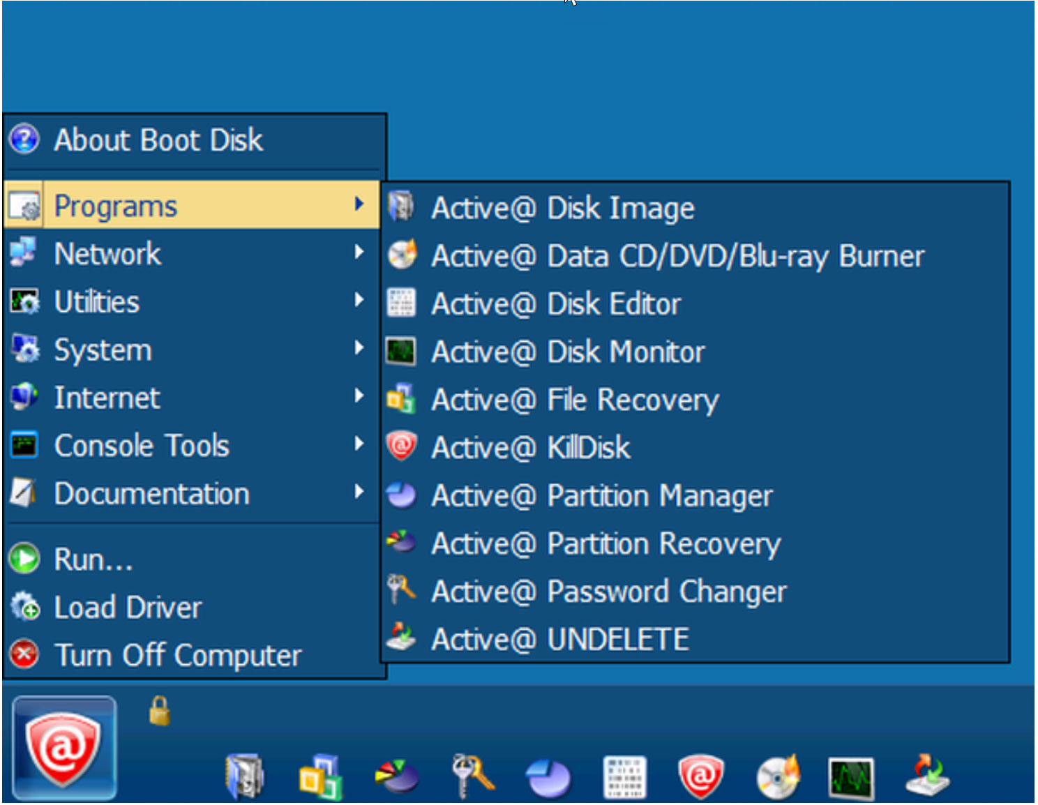 Active@ UNDELETE in Active@ Boot Disk