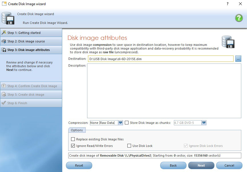 Disk Image attributes